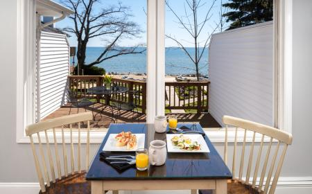 Breakfast Nook with view of Lake Huron
